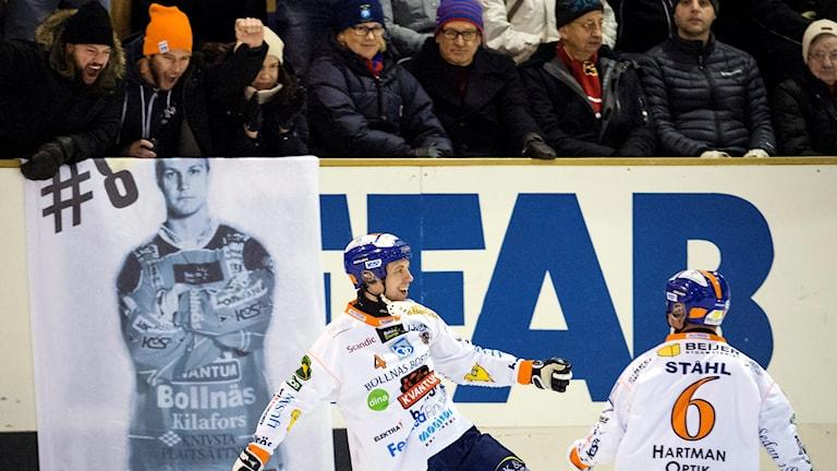 Per Hellmyrs gjorde två mål. Foto: Ulf Palm/TT