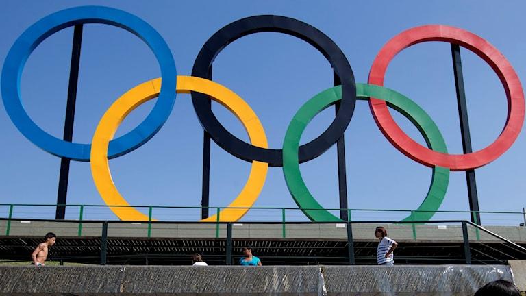 OS-ringarna i Rio. Foto: Silvia Izquierdo/TT