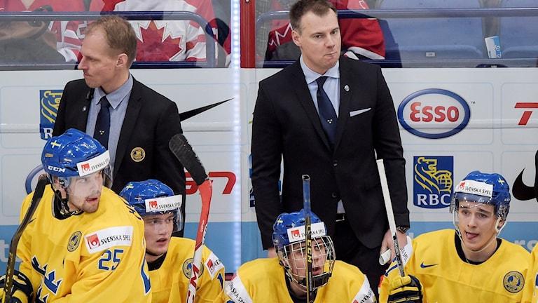 Axel Holmström, längst till vänster