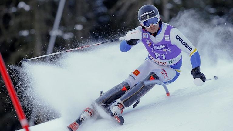 Alpina åkaren Jens Byggmark. Foto: TT Nyhetsbyrån