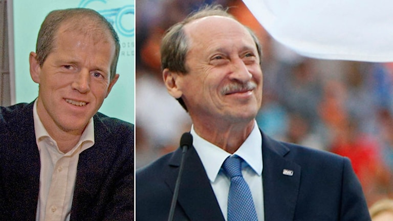 Svenska ordföranden Toralf Nilsson och den ryske avstängde ordföranden Valentin Balachnitjev. Foto: TT