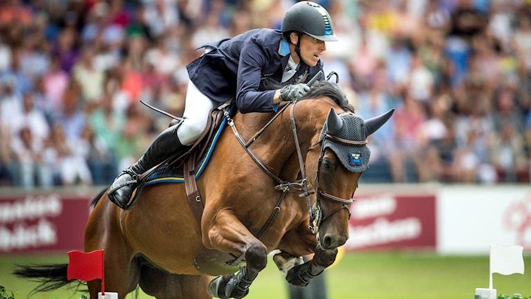 Henrik von Eckermann på hästen Cantinero under ryttar-EM 2015