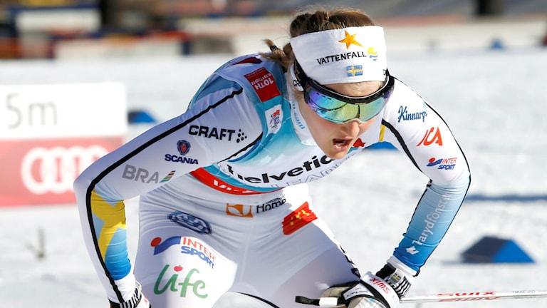 Stina Nilsson i Tour de Ski. Foto: Terje Pedersen/NTB scanpix/TT
