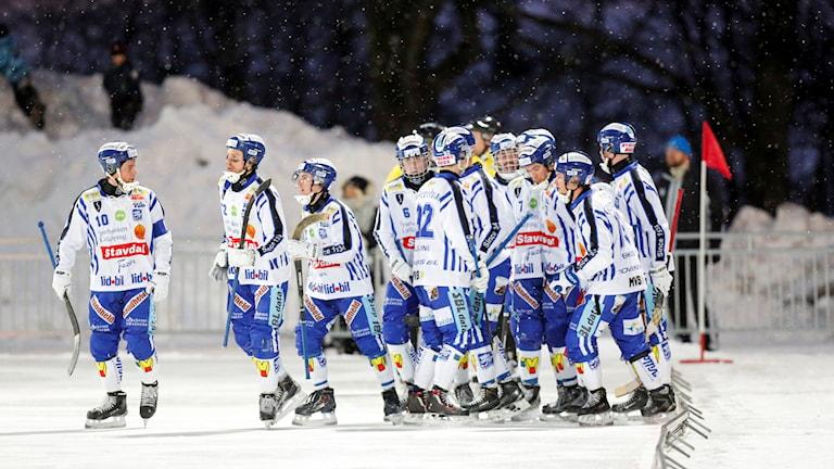 Villa Lidköping jublar under match