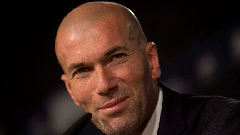 Real Madrids tränare Zinedine Zidane. Foto: Paul White/TT.
