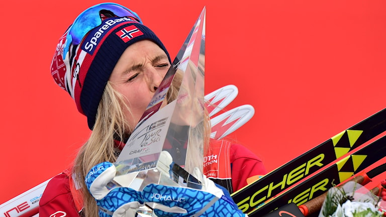 Therese Johaug krossade motståndet i Tour de ski. Foto: AFP/TT
