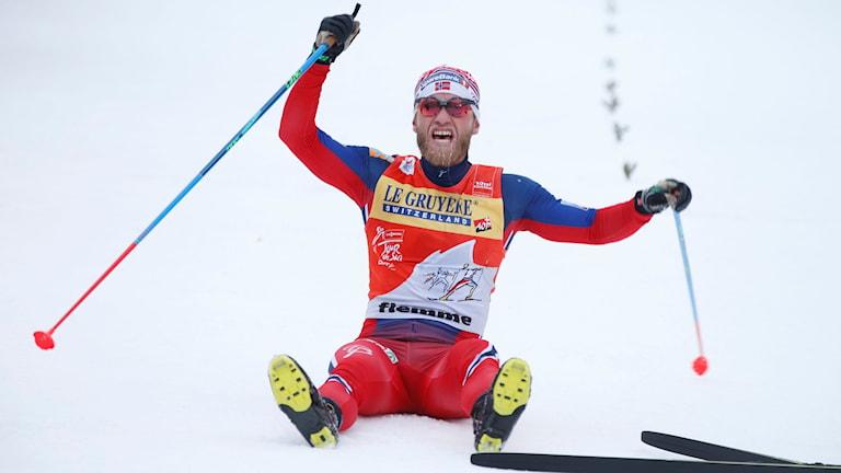 Martin Johnsrud Sundby var överlägsen i Tour de ski. Foto: Terje Pedersen/NTB scanpix/TT