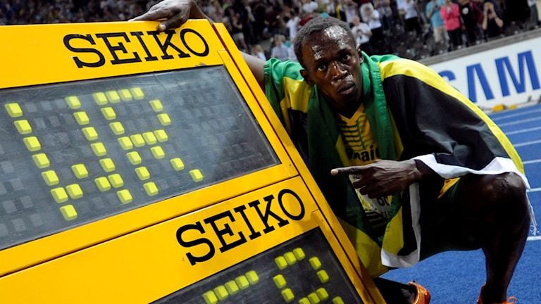 Storbritannien vill radera samtliga världsrekord, däribland Usain Bolts rekord på 100 meter. Foto: AFP/TT