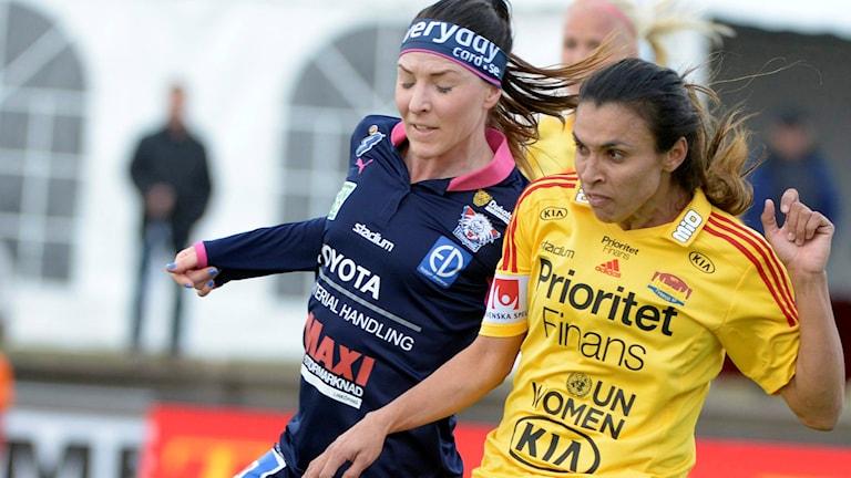 Arkivbild: Maja Krantz (t.v.) och Marta. Foto: Leo Sellén / TT