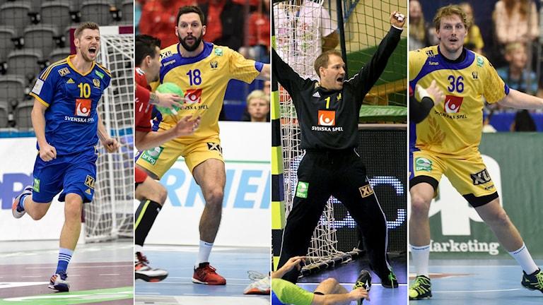 Från vänster: Niclas Ekberg, Tobias Karlsson, Mattias Andersson och Jesper Nielsen