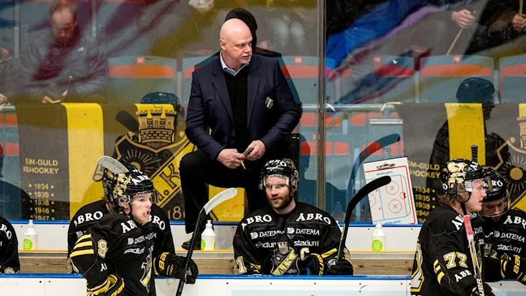 AIK:s tränare Roger Melin vill inte ta ut någon finalplats i förskott. Foto: Christine Olsson/TT