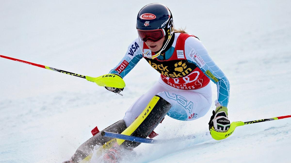 Mikaela Shiffrin är idol bland unga svenskar. Foto: TT