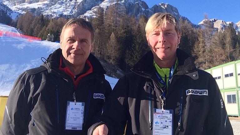 Torgny Svensson (t.v.) och Mats Dahlberg. Foto: SR.