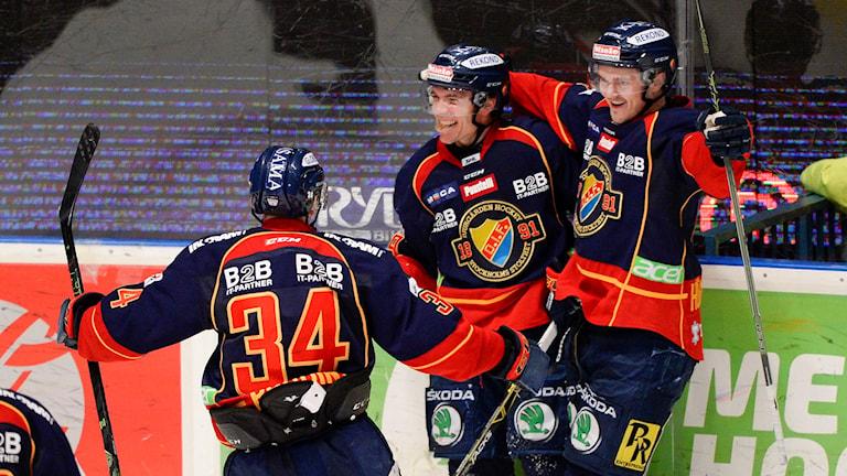 Matt Anderson i Djurgården jublar efter vändningen mot Malmö