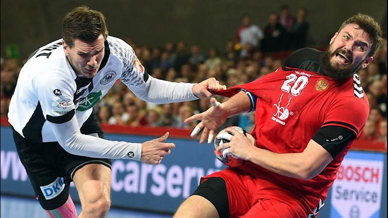 20160124 Tyskland mot Ryssland i handbolls-EM. Foto: AFP/Janek Skarzynski