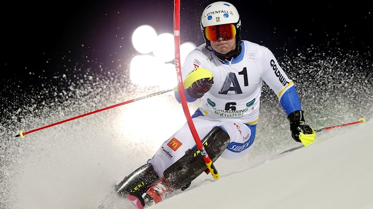 Mattias Hargin i Schladming. Foto: AP Photo/Shin Tanaka/TT