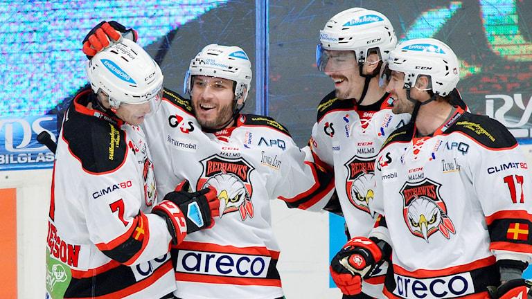 Joey Tenute avgjorde för Malmö. Foto: Anders Wiklund/TT