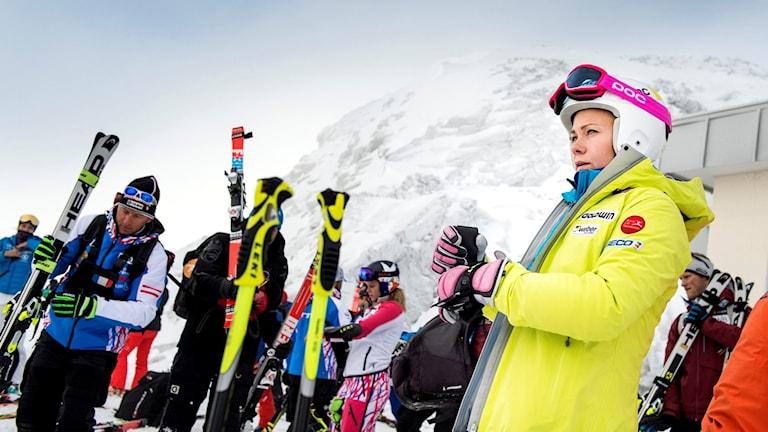 Svenska slalomstjärnan Frida Hansdotter. Foto: Pontus Lundahl/TT
