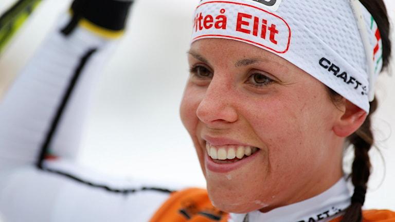 Charlotte Kalla tog ett nytt SM-guld. Foto: Robert Nyholm/TT