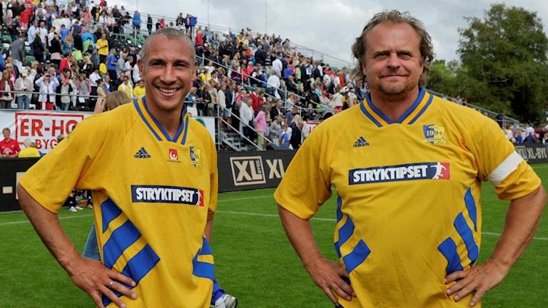 Kan det bli Henrik Larsson och Jonas Thern som ska leda landslaget efter EM? Foto: Björn Lindgren/TT