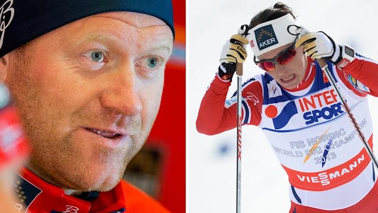 Roar Hjelmeset och Marit Björgen.