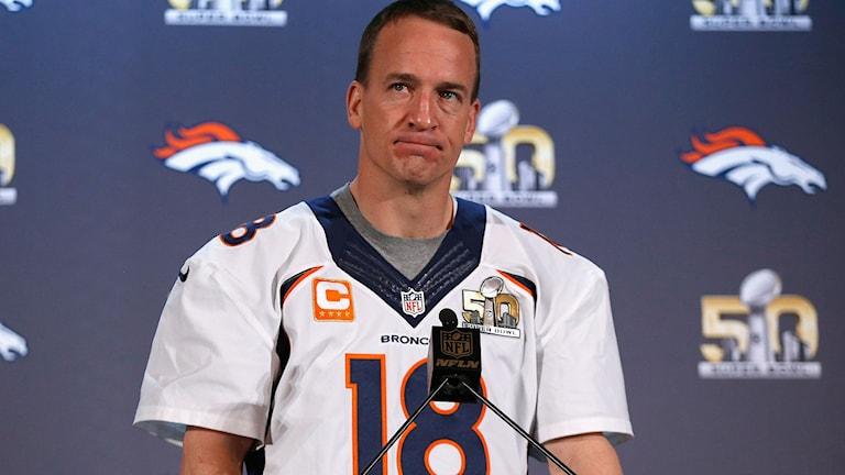 Denver Broncos Peyton Manning. Foto: Ezra Shaw/TT.