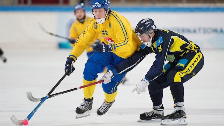 Daniel Berlin i matchen mot Kazakstan. Foto: Jessica Gow/TT