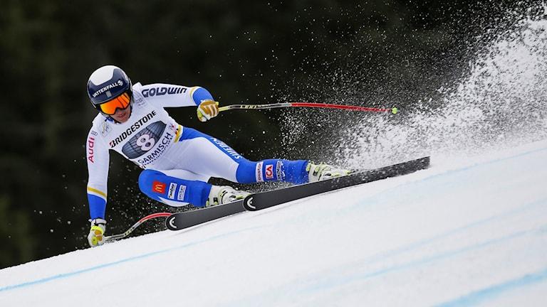 Kajsa Kling i Garmisch-Partenkirchen. Foto: AP Photo/Marco Trovati/TT