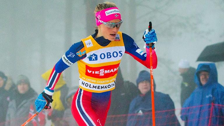 Therese Johaug utklassade motståndet på tremilen. Foto: Vegard Wivestad Grøtt/NTB scanpix/TT