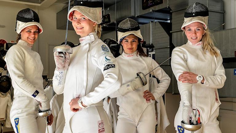 Från vänster: Kinka Barvestad, Johanna Bergdahl, Emma Wenne och Sanne Gars.