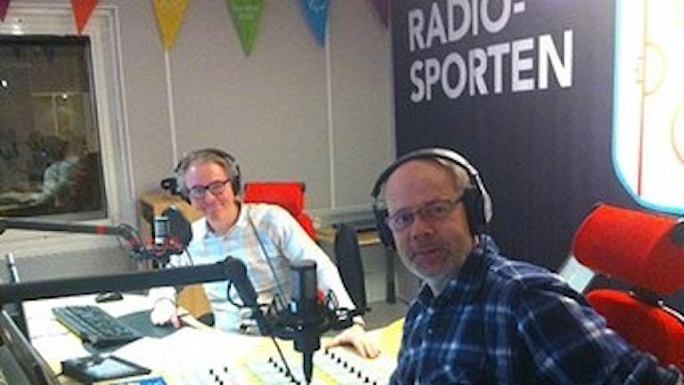 Bengt Skött och Dag Malmqvist. Foto: SR