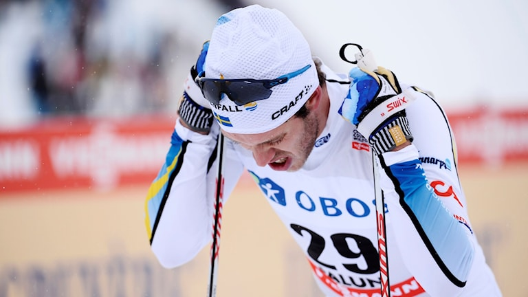 Marcus Hellner var långt efter på 10 kilometer. Foto: Maja Suslin/TT
