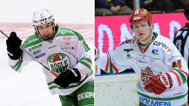 Timothy Liljegren och Carl Grundström. Foto: TT Kollage: SR