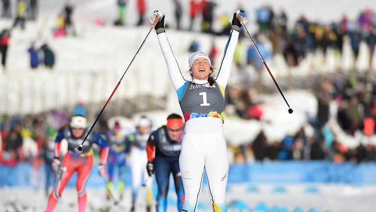 Johanna Hagström vann guld i ungdoms-OS.