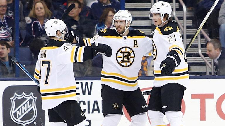 Loui Eriksson satte det avgörande målet för Boston.