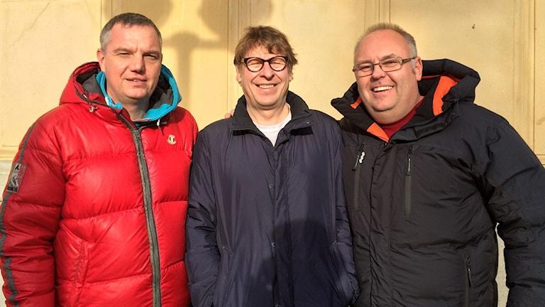Jonas Enarson, Roger Burman och Lasse Persson. Foto: SR