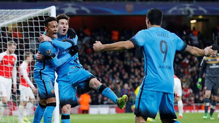 Neymar, Lionel Messi och Luis Suarez