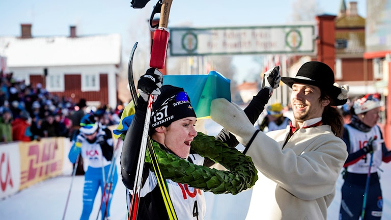 Johansson Norgren efter att ha segrat i Tjejvasan 2016.