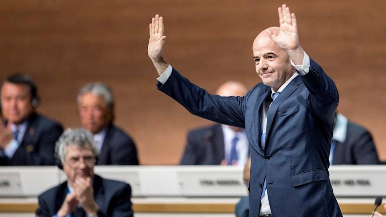 Gianni Infantino under Fifa-kongressen i Zürich.