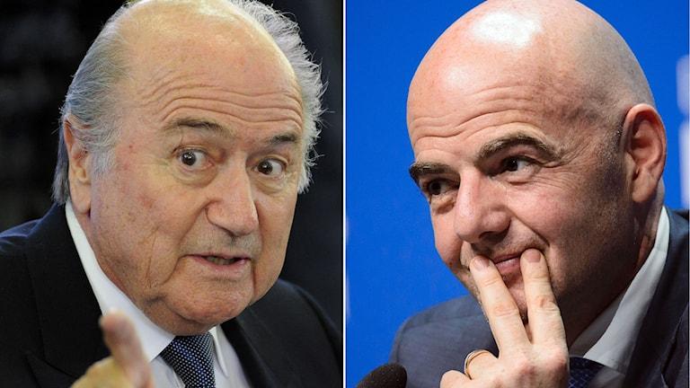 Sepp Blatter och Gianni Infantino