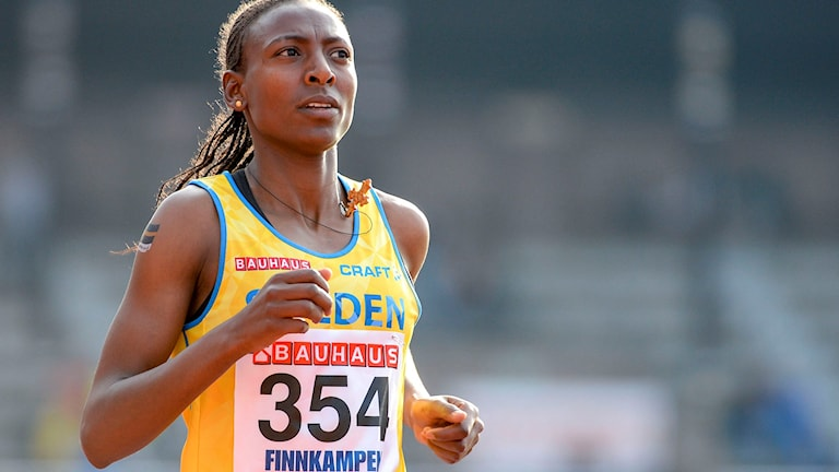 Die schwedische 1500-Meter-Läuferin Abeba Aregawi ist wegen Doping vorläufig für die Olympischen Spiele in Rio gesperrt.  Arkivbild: Abeba Aregawi.