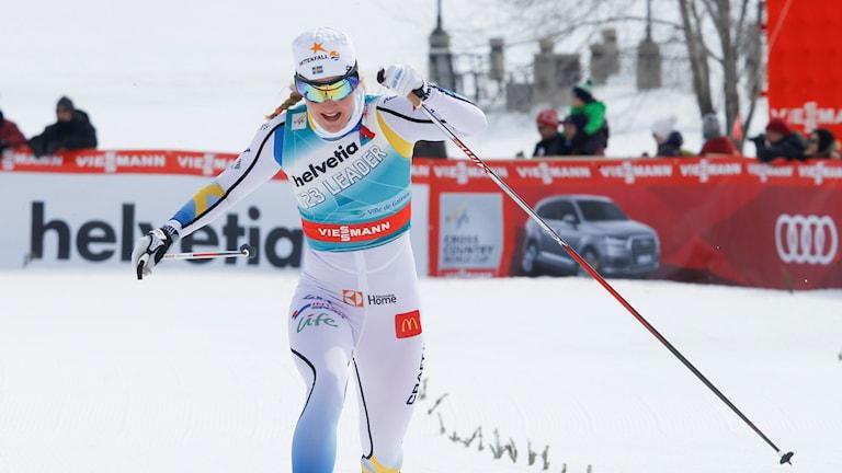 Stina Nilsson under sprinten i Kanada