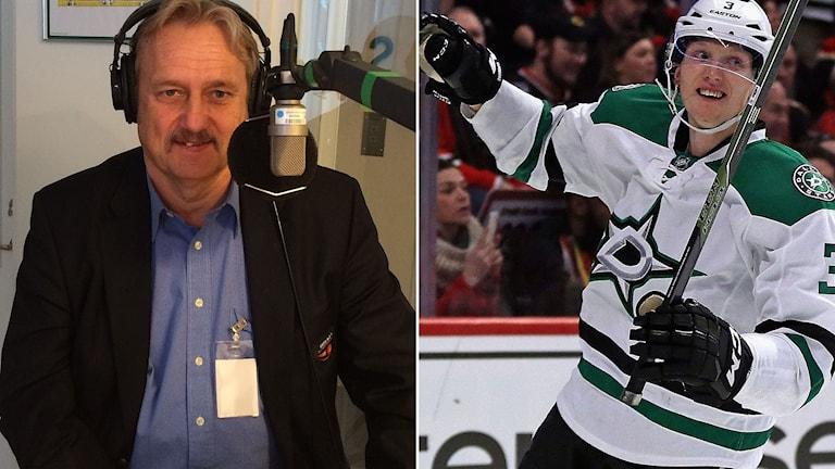 Sonny Lundwall, ligachef hockeyallsvenskan och John Klingberg.