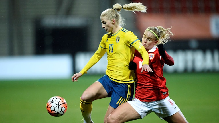 Sverige vann mot Norge i OS-kvalet.