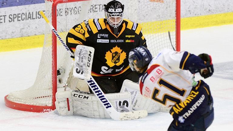 Johan Backlund storspelade mot Djurgården.