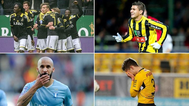 AIK, Häcken, Malmö klara för kvartsfinal. Elfsborg utslagna.