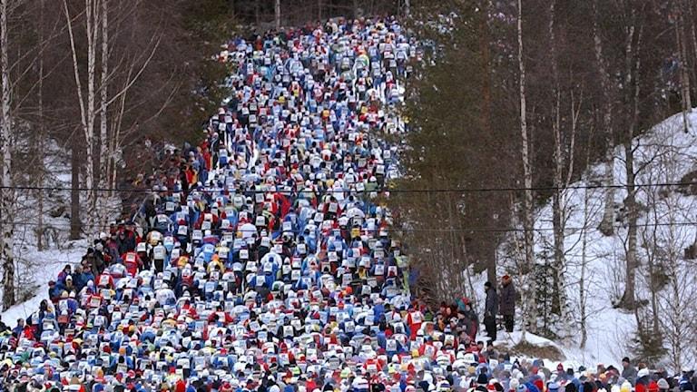 Vasaloppet, starten i Sälen.