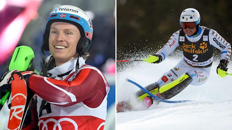 Henrik Kristoffersen och Mattias Hargin.