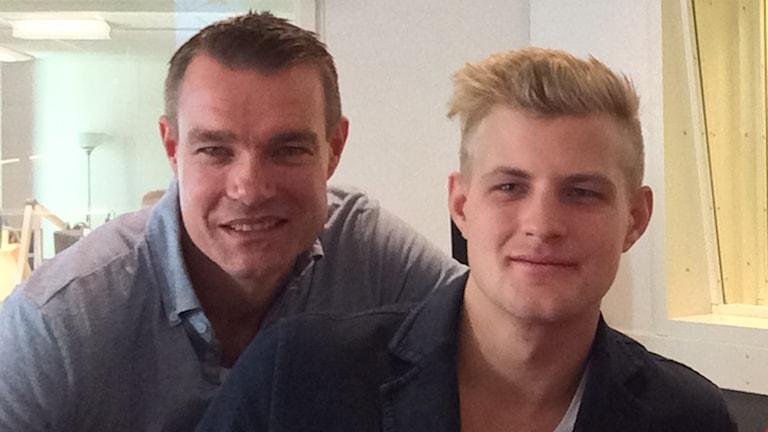 Markus Ericsson och Fredrik Ekblom.