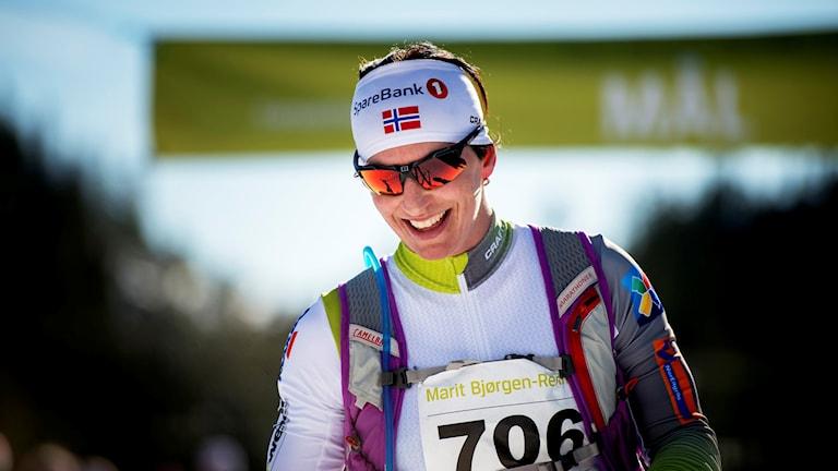 201603012 Marit Björgen gjorde comeback till hemmapublikens jubel. Foto: Ole Martin Wold/NTB Scanpic/PP
